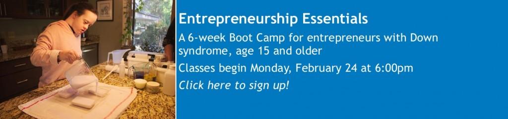 Entrepreneurship Essentials website banner 2020