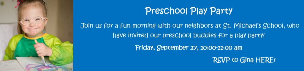 Preschool play party banner